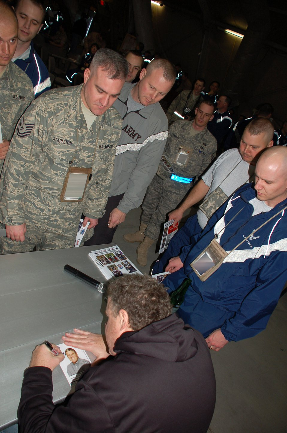 NFL players kick off USO tour in Kyrgyzstan