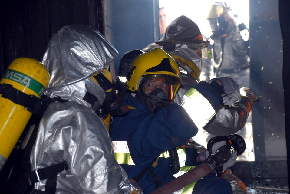 Firefighters exchange knowledge, experience