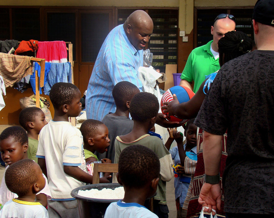 Airmen reach out to orphans in Africa
