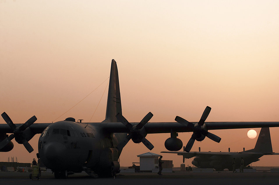 Feb. 14 airpower summary: C-130s support coalition forces