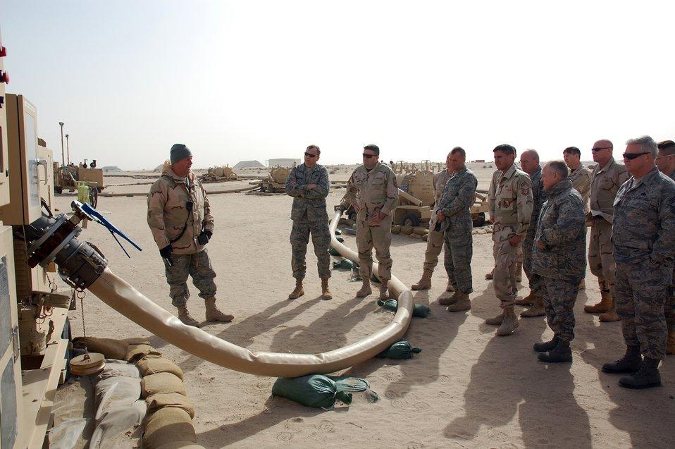 Leaders ensure wartime logistics, maintenance success
