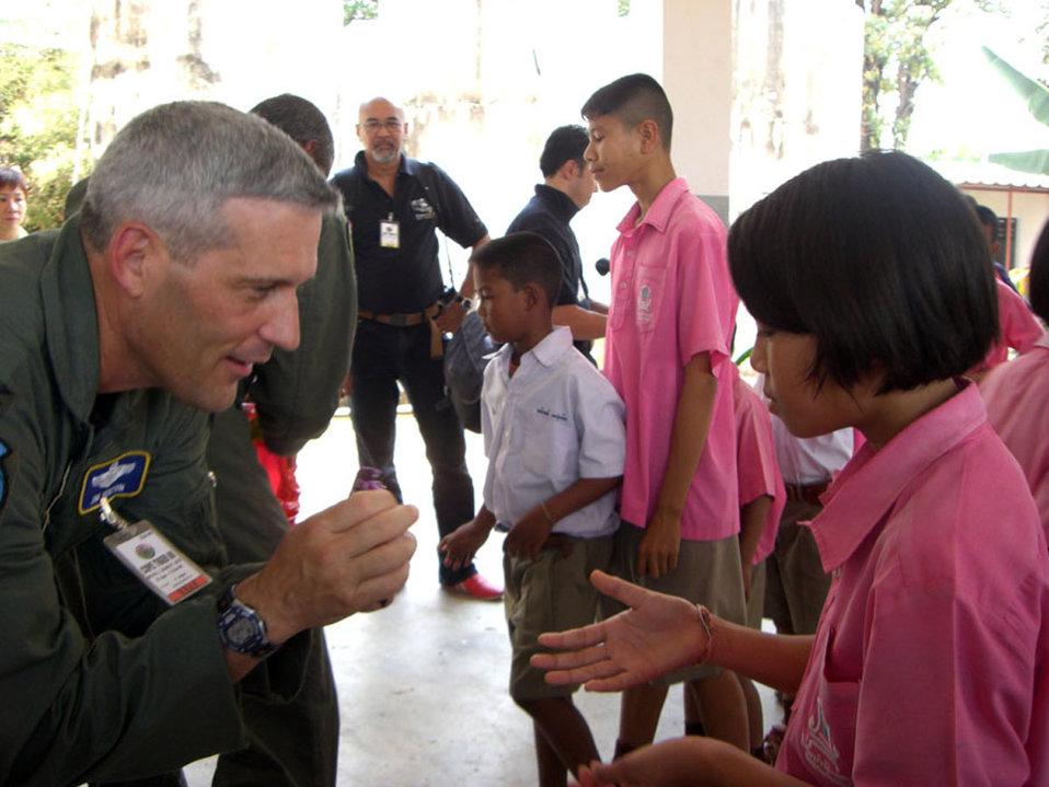 PACAF team donates to Thai school