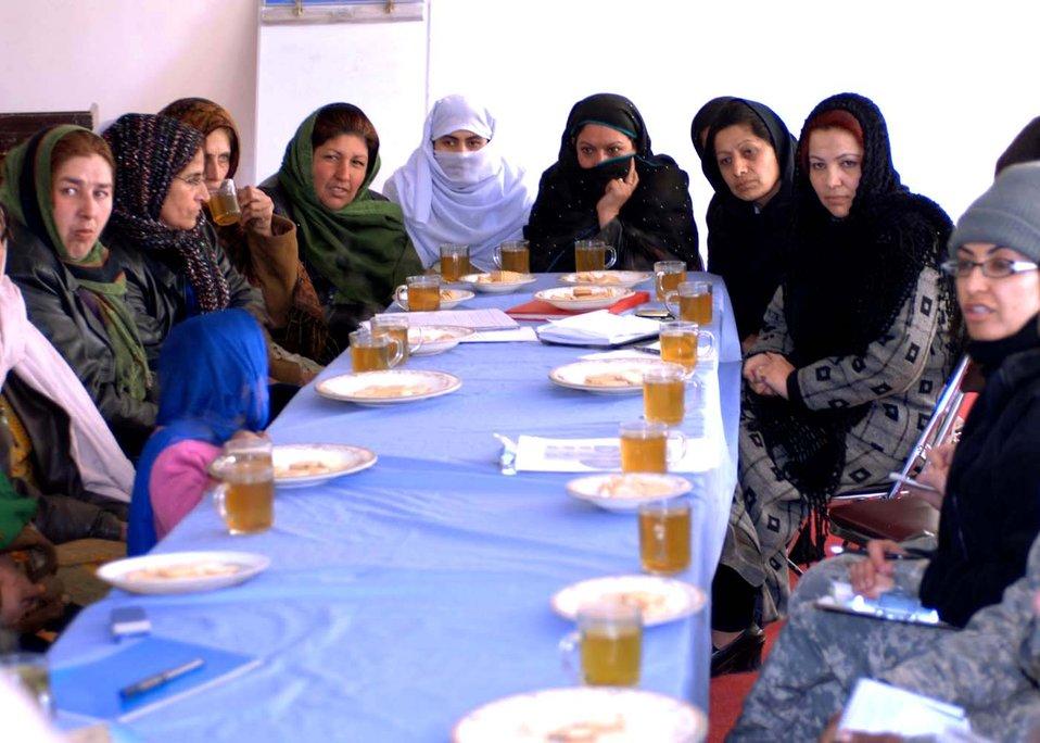 AF team addresses local province women's needs