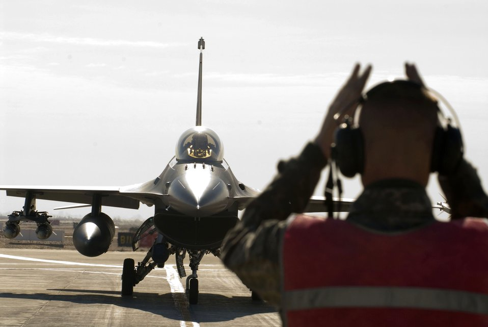 Airmen are 'bombarded'