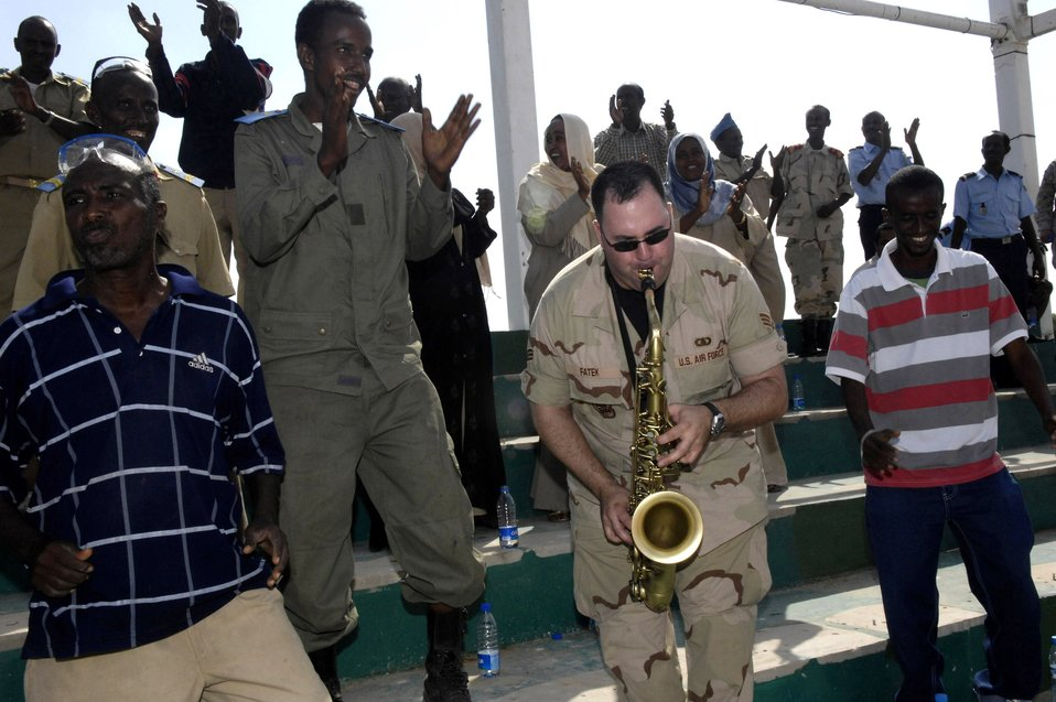 Air Force band kicks off tour in Djibouti