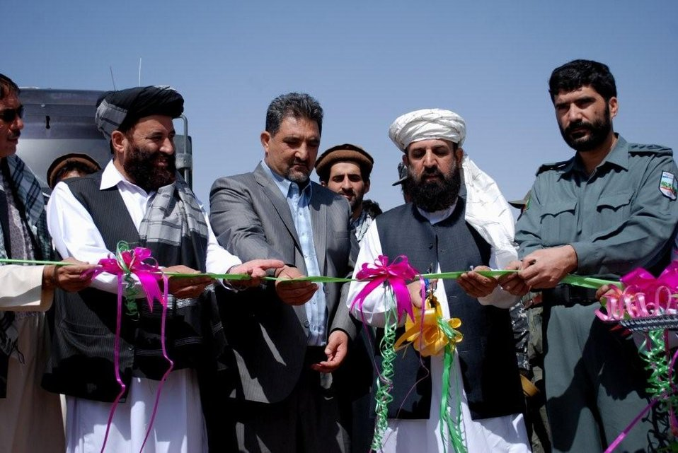 GHAZNI PROVINCIAL GOVERNOR, AND COMMUNITY LEADERS CELEBRATE ROAD CONSTRUCTION FOR THE GHAZNI TO GARDEZ ROAD