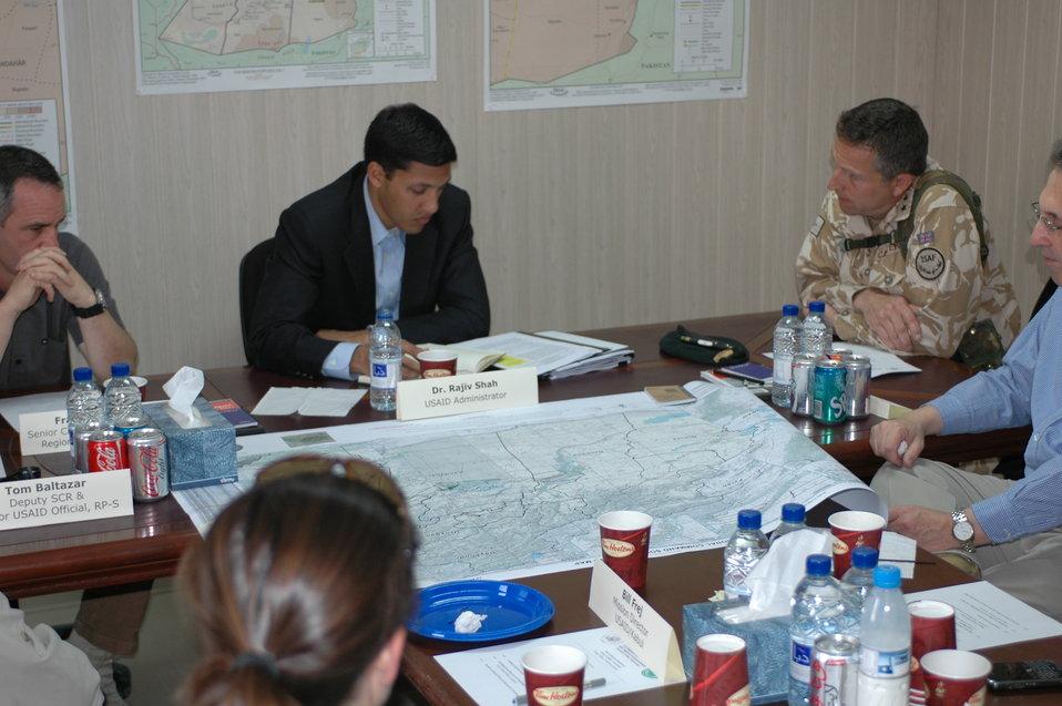 Dr Shah Visits Kandahar April 9, 2010