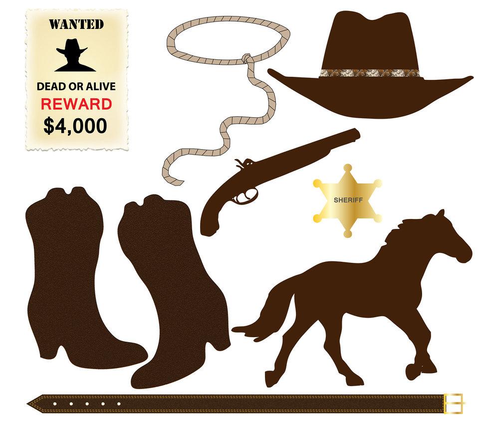 Cowboy icons clip-art