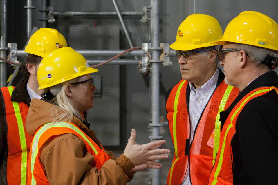 Inslee Visit at Hanford