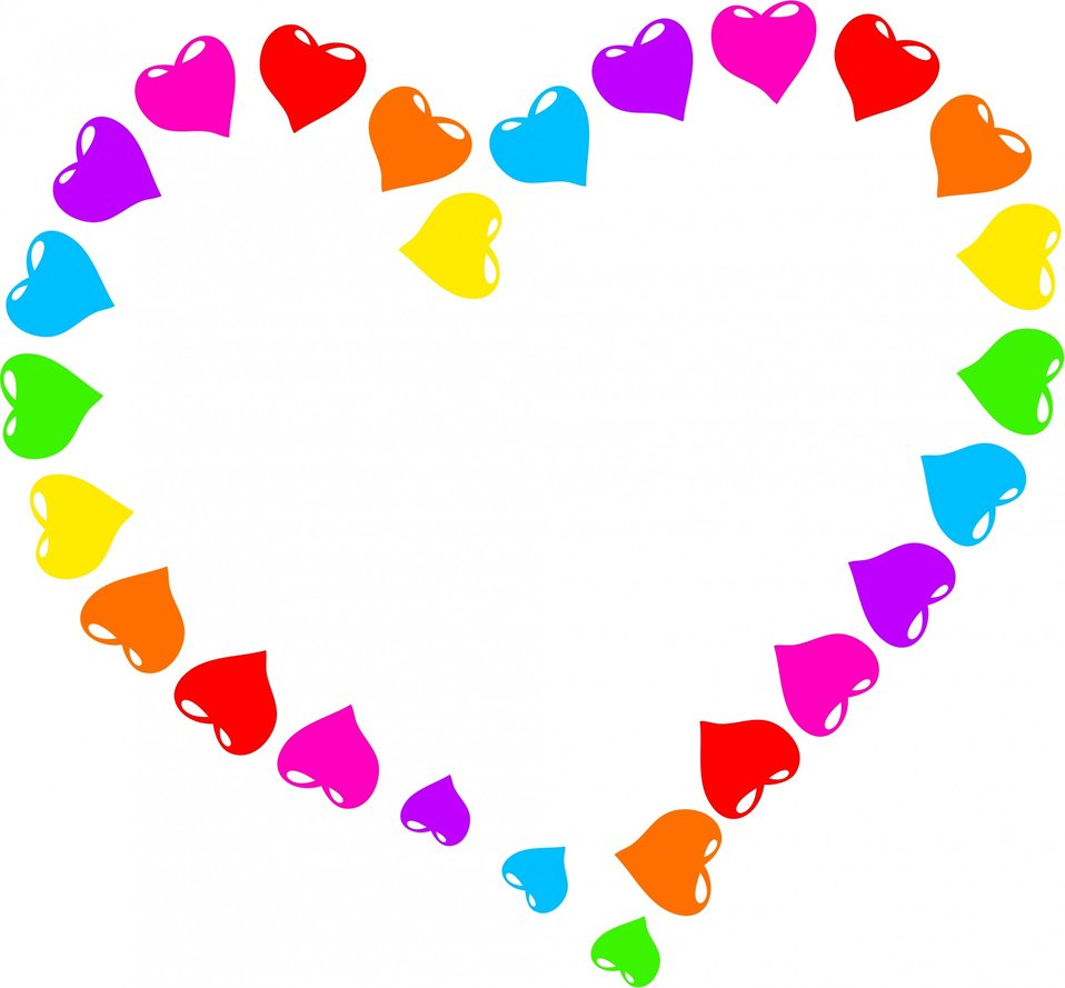 Rainbow heart clipart