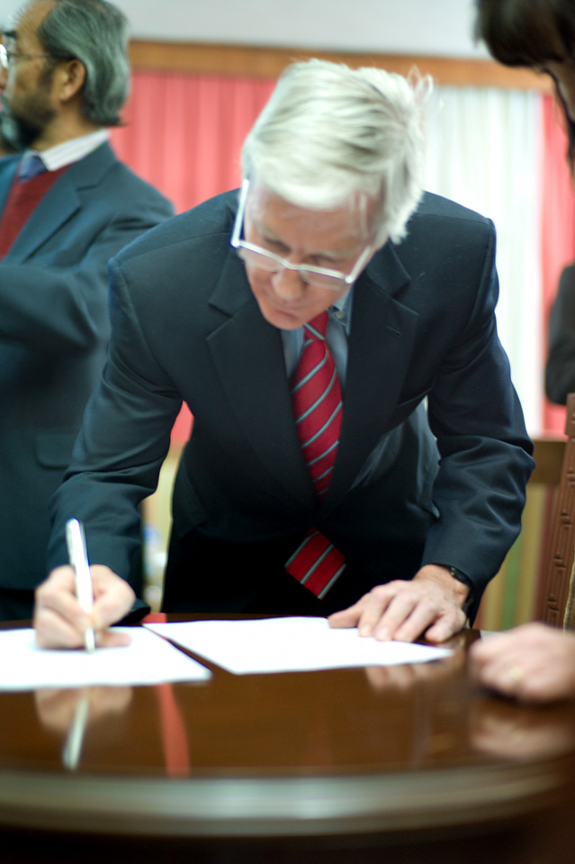 Ambassador Crocker signing 1