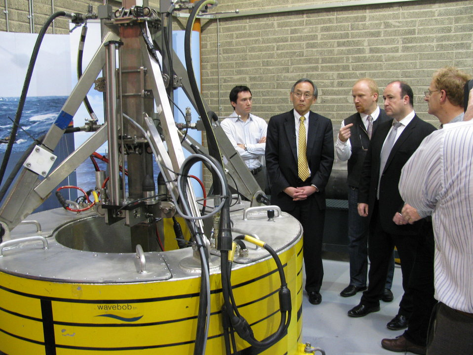Secretary Chu tours Wavebob, a leading wave power technology company in Ireland that is partnering with the United States to harness the cle