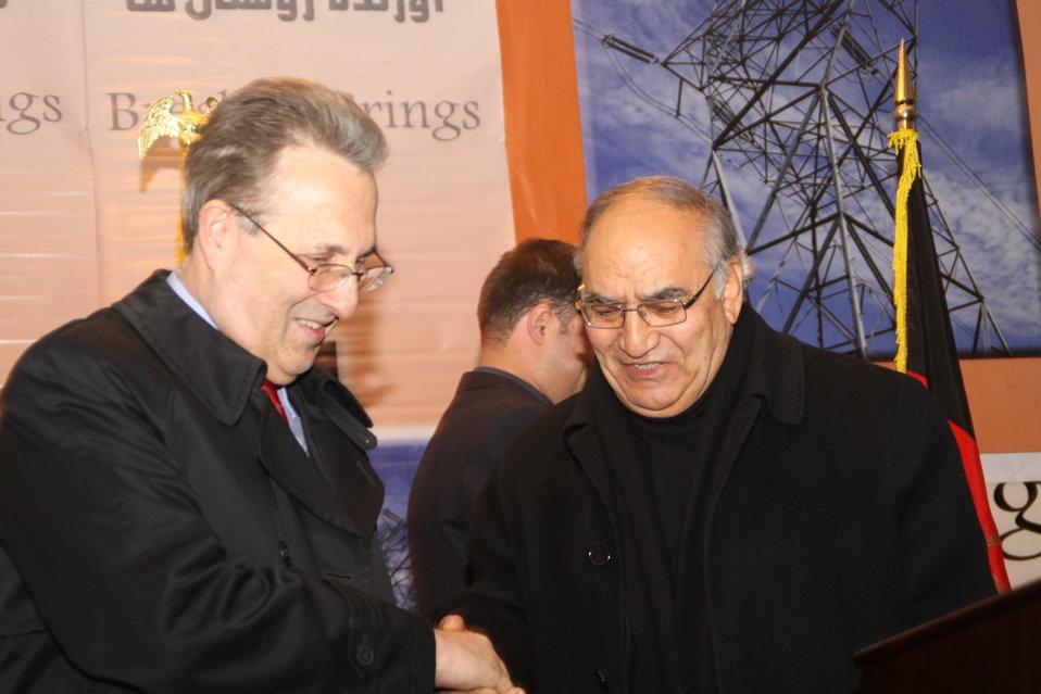 U.S. Ambassador E. Anthony Wayne and Dr. Shams
