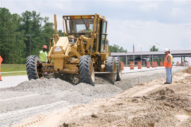 Savannah River road work