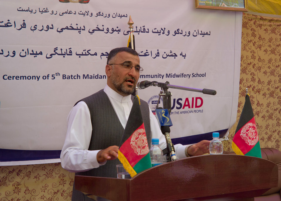 Governor of Wardak Speaking