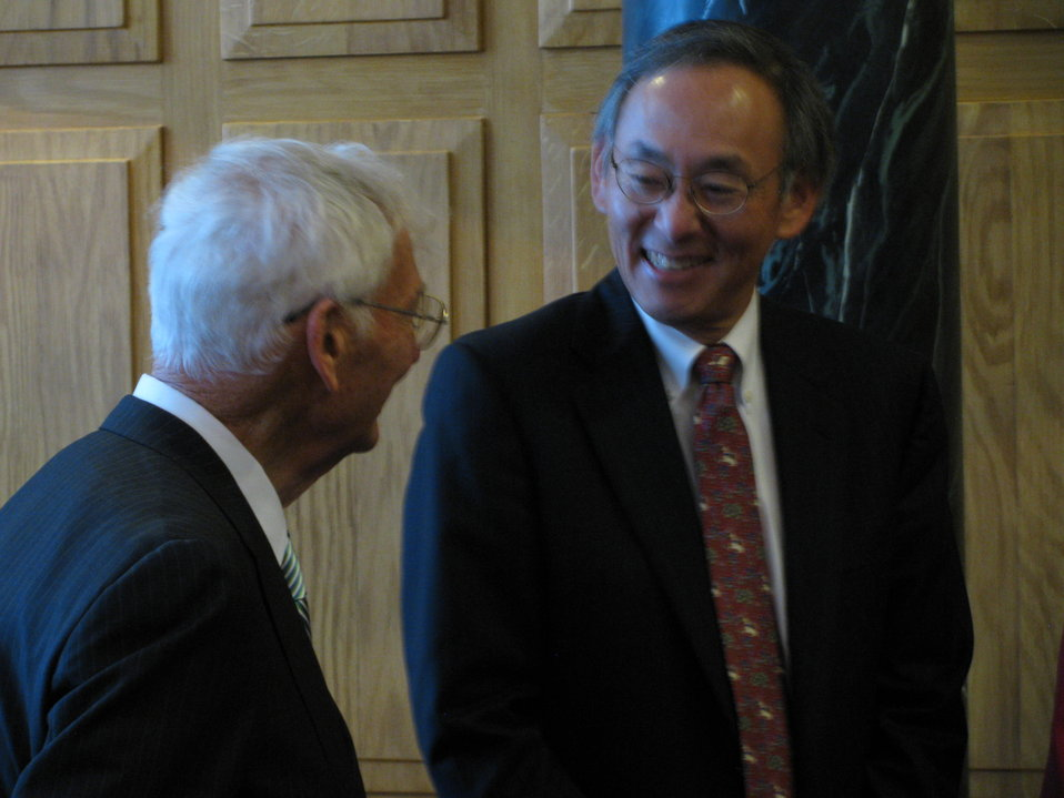 Secretary Chu and Daniel Rooney, the United States Ambassador to Ireland – as well as the former owner of the mighty Pittsburgh Steeler