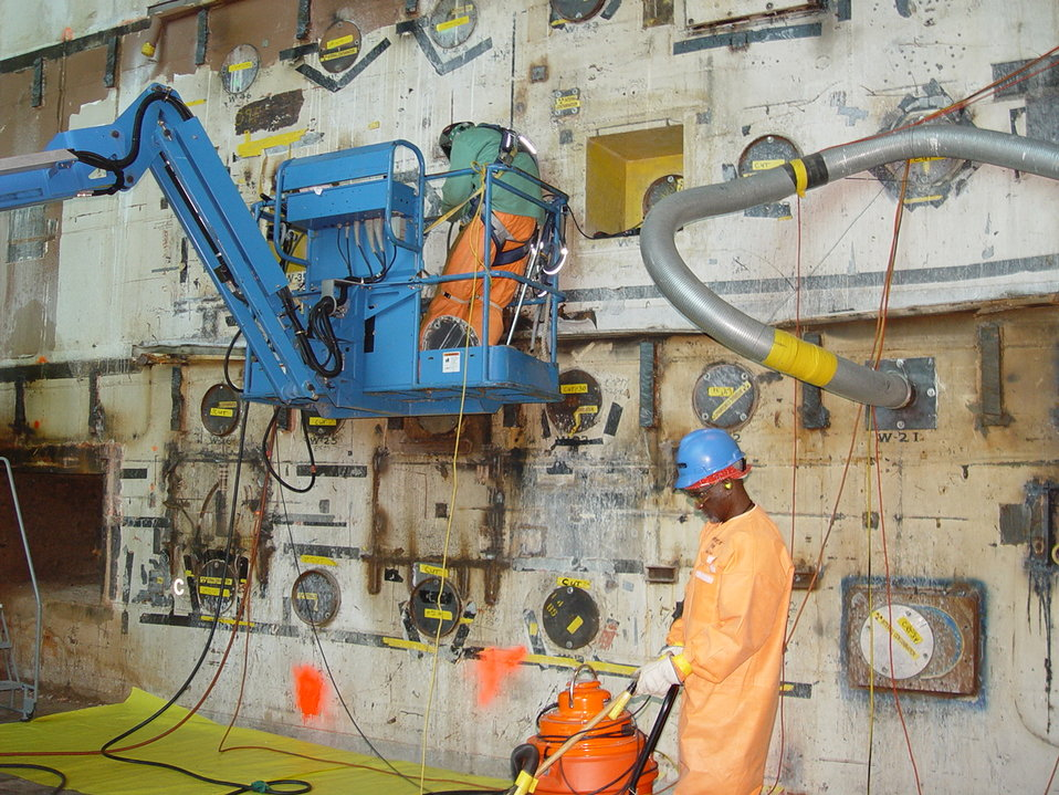 Cutting Experimental Ports from BGRR Bioshield
