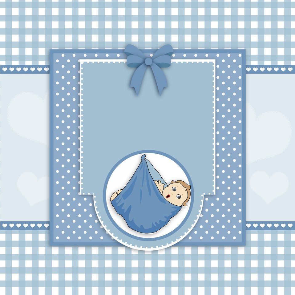 Baby boy card cute