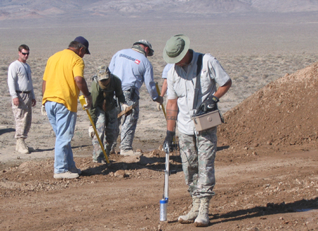 UXO tech and RCT screening soil