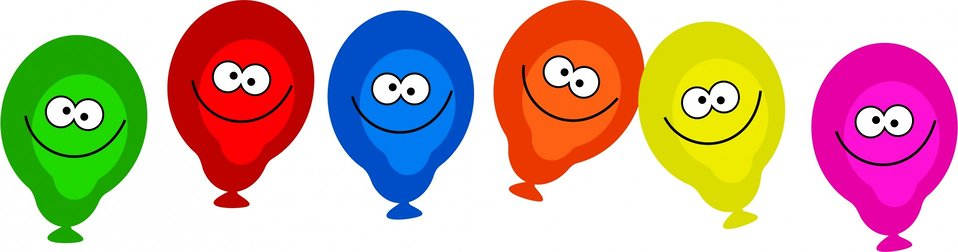 Happy smiling balloons