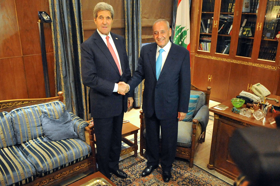 Secretary Kerry Meets With Lebanese Parliamentary Speaker Berri in Beirut