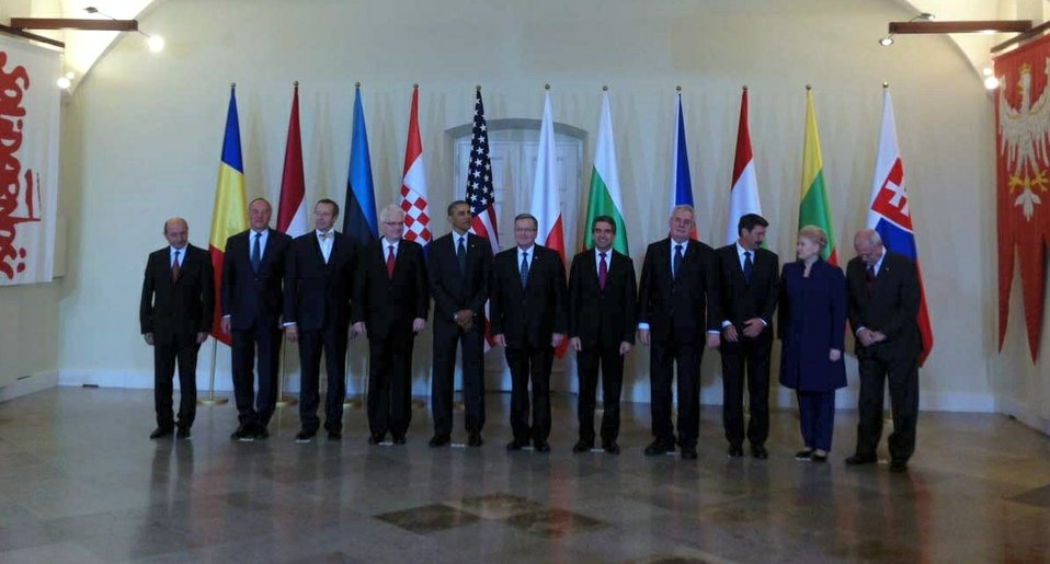President Obama Joins Central and Eastern European Leaders for a Photo