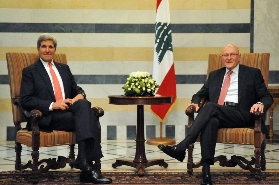 Secretary Kerry Meets With Lebanese Prime Minister Salam in Beirut