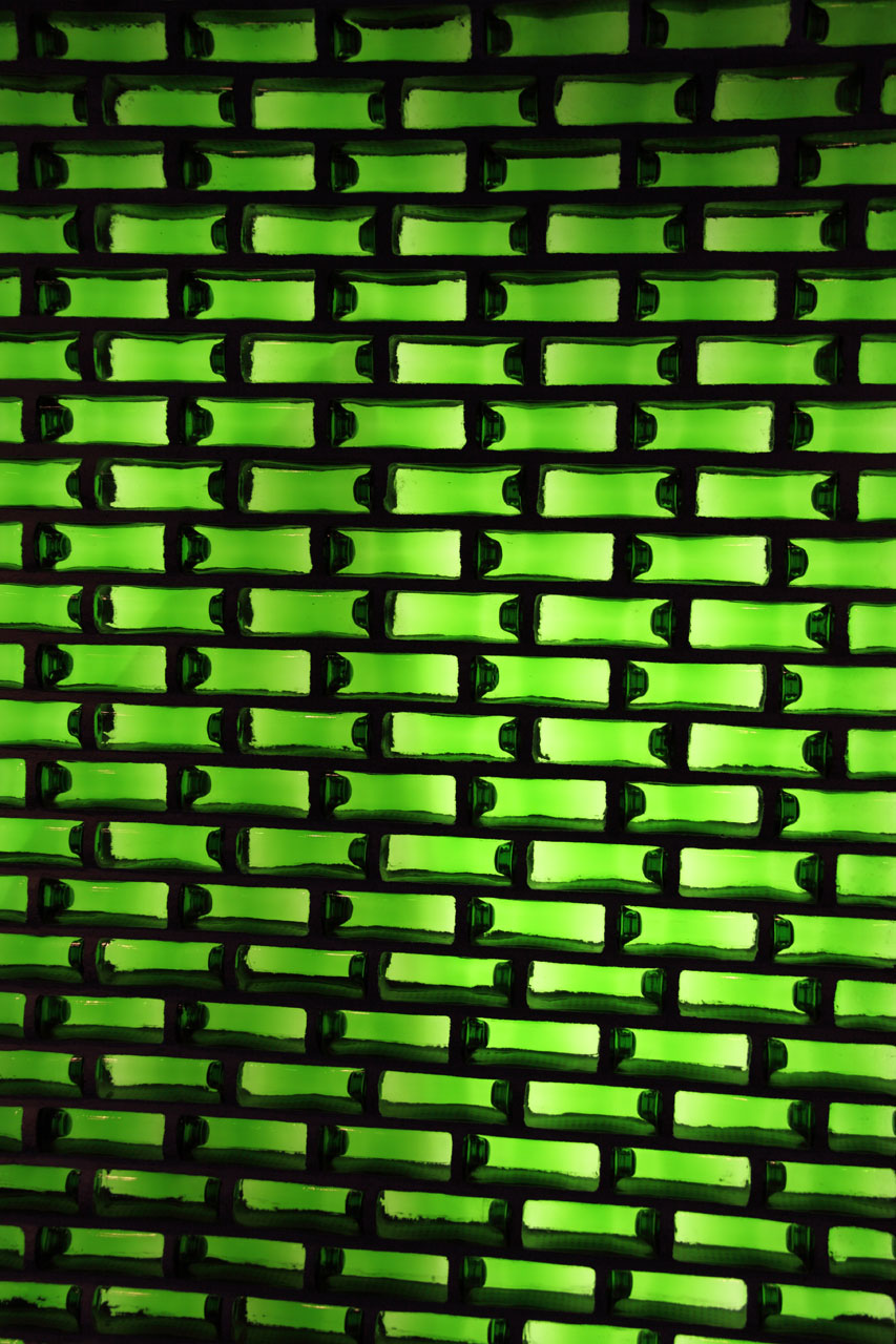 Green bottle texture