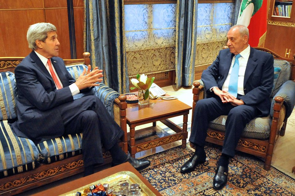 Secretary Kerry Speaks With Lebanese Parliamentary Speaker Berri in Beirut