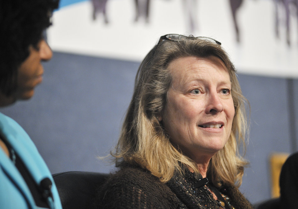 Anita Decker, Chief Operating Officer, Bonneville Power Administration, participates in the panel discussion.  Energy Department Image | P