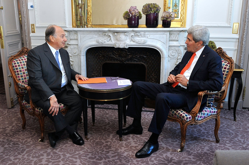 Secretary Kerry Meets With Aga Khan in Paris