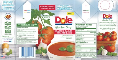 "RECALLED - Garden soup ""Roasted Garlic Tomato Basil"""
