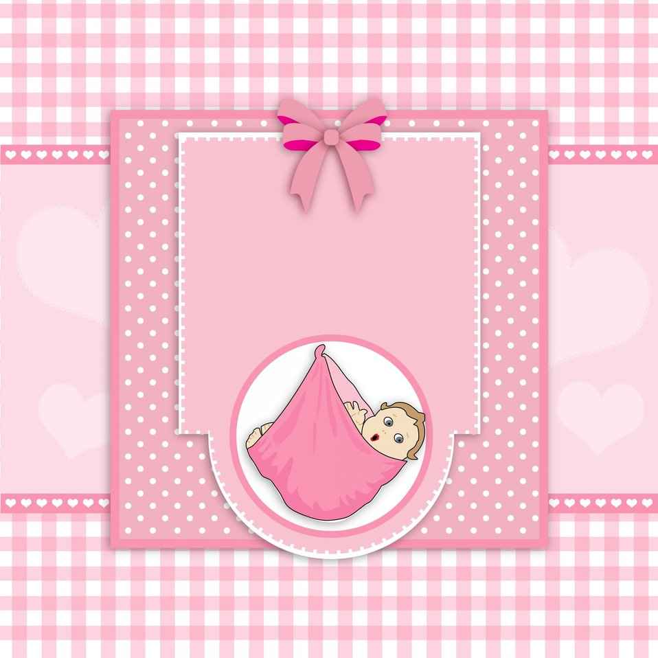 Baby girl card cute
