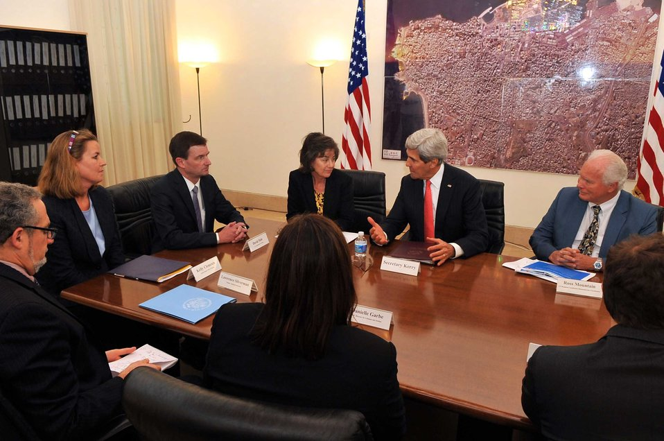 Secretary Kerry Meets With Humanitarian Providers During Stop in Beirut