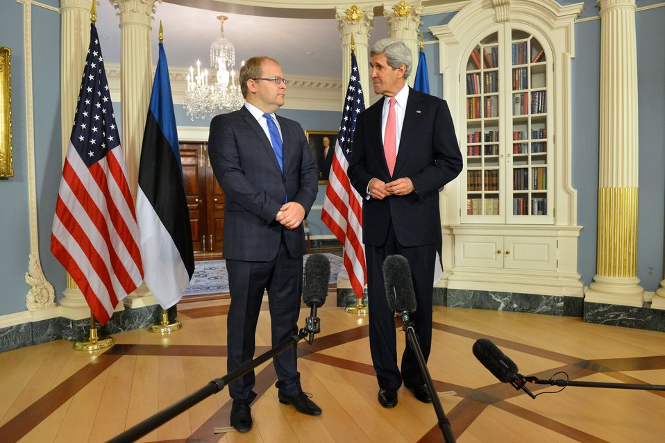 Secretary Kerry and Estonian Foreign Minister Paet Address Reporters