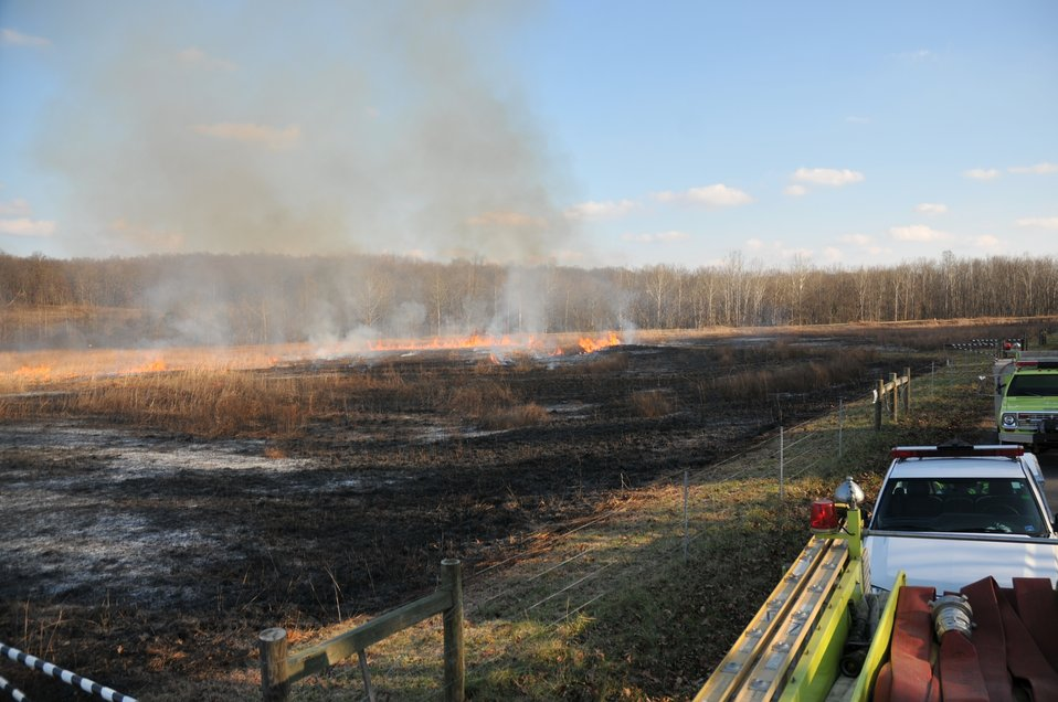 Successful controlled burn at Portsmouth