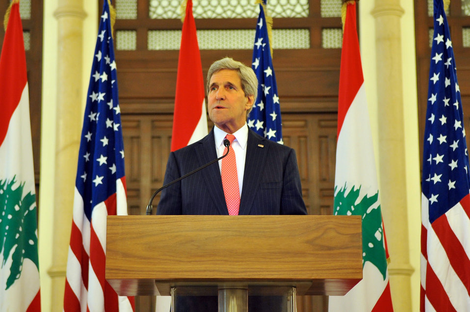 Secretary Kerry Addresses Reporters After Meeting With Lebanese Prime Minister Salam