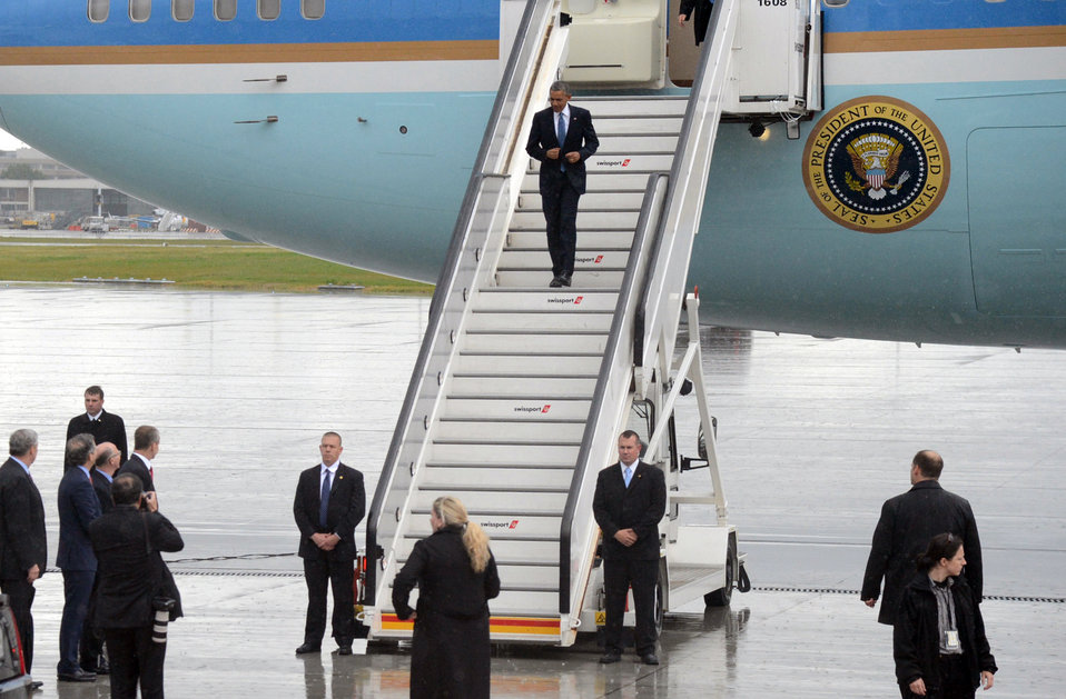 President Obama Arrives in Belgium