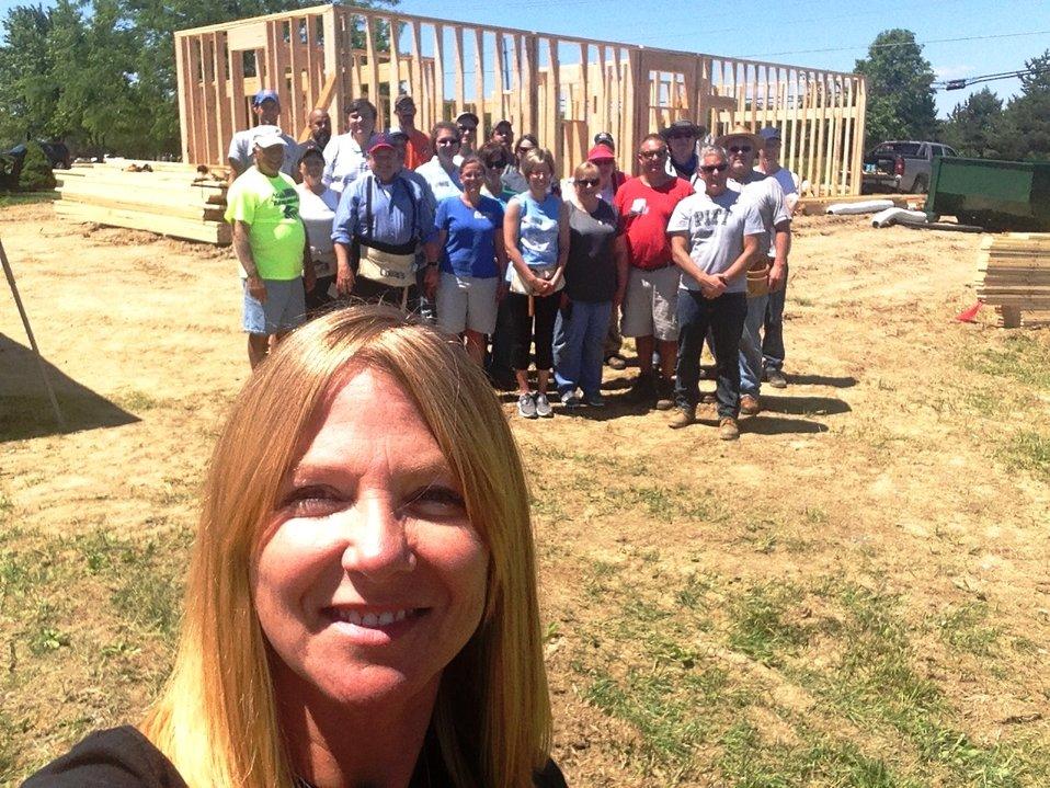 140606 Ohio Habitat Michelle Amrine selfie RD staff builders 2