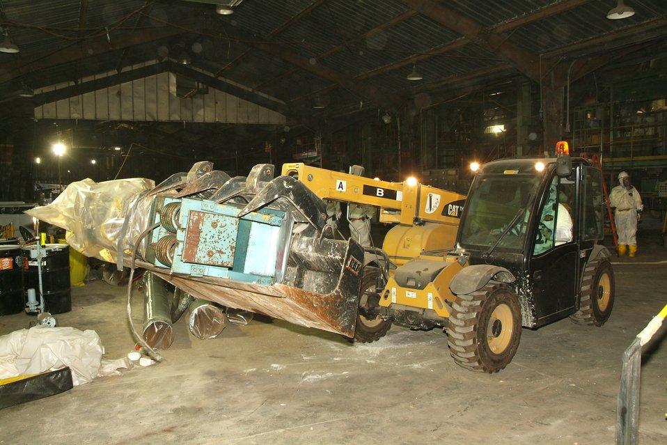 Smelter excavator