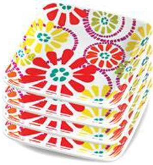 RECALLED – Marissa Tangerine Appetizer Plates