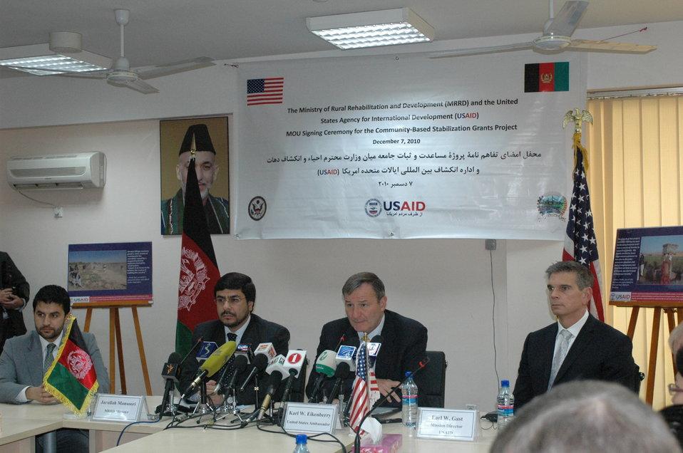 Community Based Stabilization Grants Ceremony, December 7, 2010