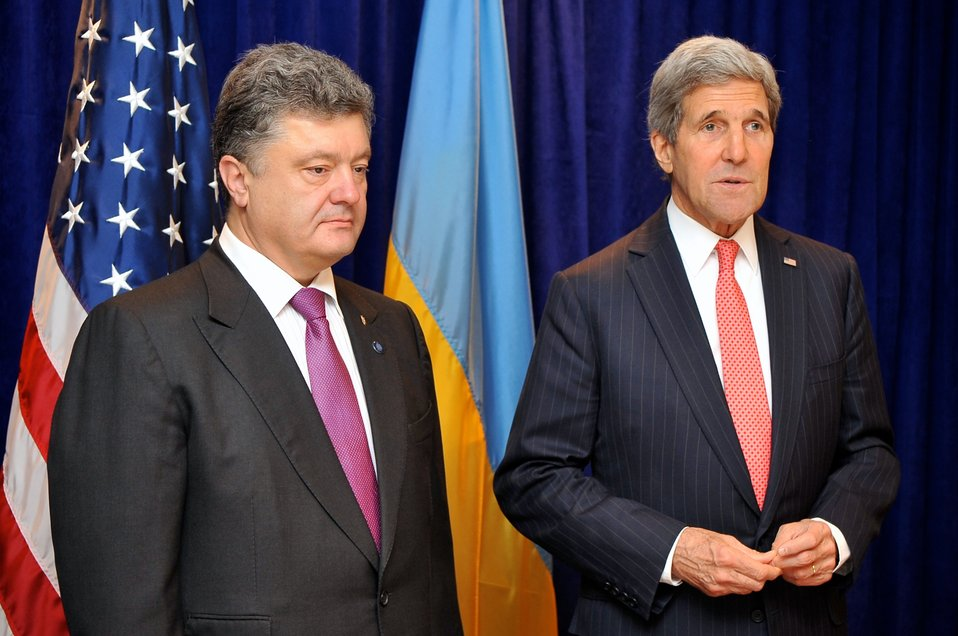 Secretary Kerry, Ukrainian President-elect Poroshenko Address Reporters Before Meeting in Warsaw
