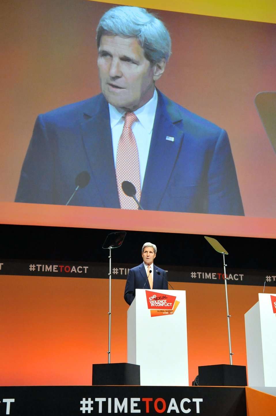 Secretary Kerry Delivers Keynote Address at 2014 Global Summit to End Sexual Violence During Conflict