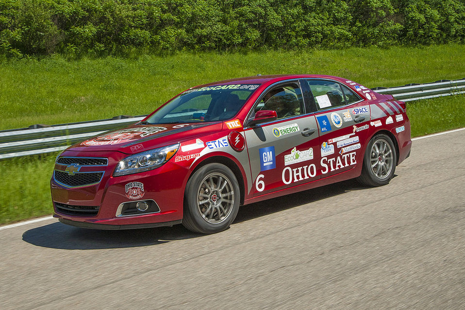 Ohio State University's vehicle came out on top after taking the lead in multiple categories, including best pre-competition safety and