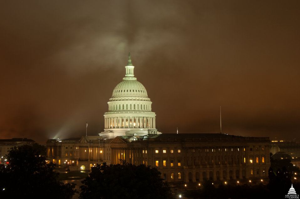 Foggy Night at Capitol May 2014