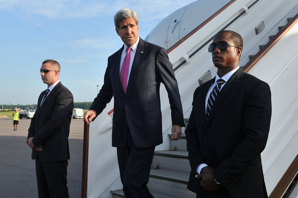 Secretary Kerry Arrives in London For Global Summit to End Sexual Violence in Conflict