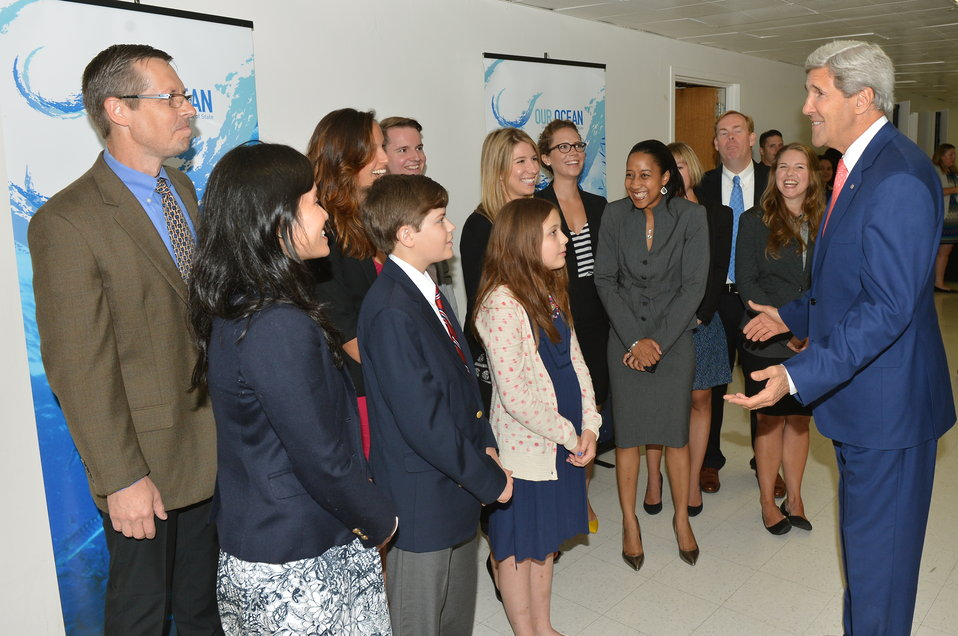 Secretary Kerry with 'Our Ocean' Meetup Group