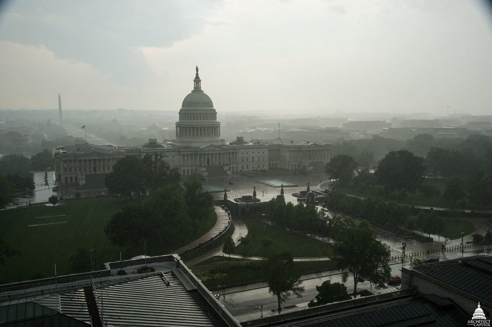 Rain Storm at the Capitol May 2014
