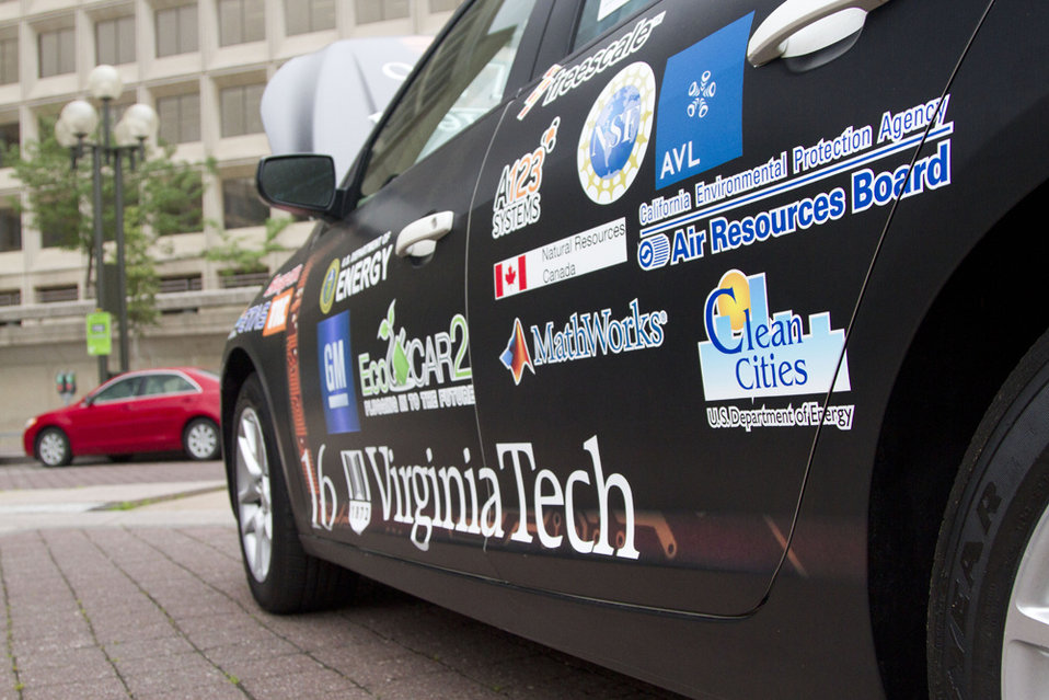 On June 12, 2014, all the EcoCAR 2 cars were on display at the Energy Department's headquarters in Washington, D.C. The general public had t